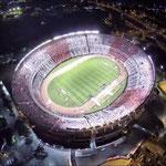 Imagen aérea del gran estadio Monumental de River.