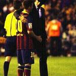 El saludo de dos cracks en la final de la Copa del Rey.