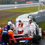 El accidente de Jules Bianchi en la Fórmula 1.