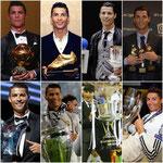 Grandioso año para el portugués Cristiano Ronaldo. Y en la foto falta el Mundialito....