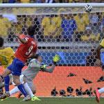 El travesaño de Pinilla contra Brasil.
