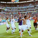 """La revelación del Mundial de Brasil: Costa Rica. Los """"Ticos"""" llegaron a los Cuartos de Final."""