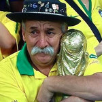 La cara que les quedó a los hinchas de Brasil tras el 1-7 ante Alemania.