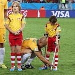 El enorme gesto de Bresciano en el Mundial de Brasil 2014.