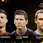Nombrados los tres finalistas al Balón de Oro 2014.