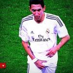 """El """"saludito"""" de Ángel Di María a la hinchada del Real Madrid. JA!"""
