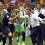 La venganza de Holanda frente España en el Mundial de fútbol.