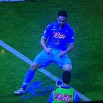 La celebración del Pipita Higuaín en la Supercopa de Italia.