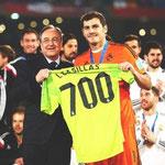 Iker Casillas llegó a los 700 partidos con el Real Madrid.