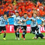 Emoción pura tras eliminar a Holanda en las Semifinales del Mundial de Brasil.