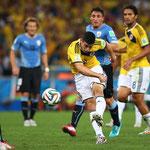 El golazo de James Rodríguez frente a Uruguay.