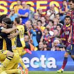 El Atlético de Madrid se consagró campeón de la Liga 2013/2014 en el Camp Nou ante el Barcelona.