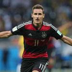 Miroslav Klose superó en el Mundial de Brasil 2014, a Ronaldo como máximo goleador histórico de los Mundiales.