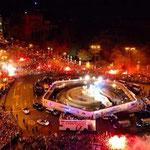 La celebración en la Cibeles de Madrid, por la Décima Champions ganada.