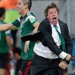 Las celebraciones del Piojo Herrera, DT de México, durante el Mundial.