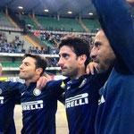 Se despidieron los cuatro argentinos del Inter: Cambiasso, Zanetti, Milito y Samuel. LEYENDAS.