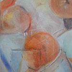 Potpourie...Stillleben orange... Acryl auf Leinwand, 30 x 60cm