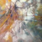 Herbstlicher Quellteich...Acryl auf artiem-Platte, inkl. R. ca. 70 x 90cm