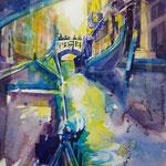 Gondelfahrt in Venedig I … Aquarell inkl. R., ca 60 x 80cm