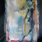Loslassen / Die Entscheidung...Acryl auf Leinw., 90 x 130 cm