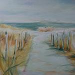Dünenweg zum Strand...Acrylgemälde, 80 x 120 cm