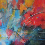 Impressionen im Vogelpark...Acrylgemälde, 80 x 80 cm