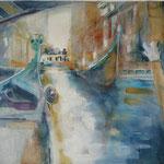 Gondelfahrt in Venedig  II ... Aquarell inkl. R., ca. 60 x 80 cm