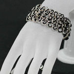 ChainMaille-Armband Dragonscale black/silver (00149)