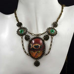 "SteamPunk-Collier ""CatOne"" (00199)"