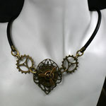 "SteamPunk-Collier ""Propeller/Ziffernblatt"" (00010)"