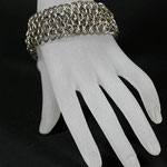 ChainMaille-Armband Dragonscale edelstahl (00149)