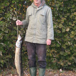 Hecht 1,05m überlistet von Anlauf Bernhard mit dem Köderfisch an der Zusam