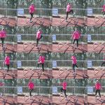 Brinie beim Tanz mit den Hürden...
