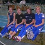 Die Mädels in Bielefeld 4x200m: Cordes, Lauterbach, Hebbecker, Schwermer