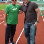 Thorpe Cup2012 - Christian Kramer mit Harry Marra (Trainer v. Ashton Eaton)