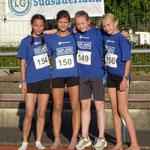 Vierkampf-Team der wU14 - Kreisrekord
