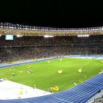 Ruhe vor dem Sturm - Olympiastadion vor dem 100m-Finale