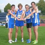 4x100m-Staffel (Mä.) - Kluge, Langenscheid, Jansen, Hombach