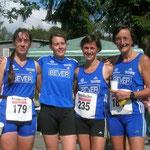 Ulla, Carmen, Eva und Ulrike bei den WD Berglaufmeisterschaften