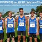 Dreikampf-Team der mU18 - Kreisrekord