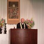 齊藤圓真師のご講演です。