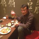 島田さん、乾杯!