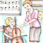 Hanna in der Musikschule