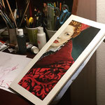 Elisabeth - Acrylics on Paper 300g