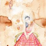 La Chica Angel, 21x29,7cm, Aquarell auf Canson MixMedia 300g, 2013