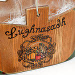 Lughnasadh Korb - Patina, Brandmalerei, Acrylmalerei, bitumenlackiert, klarlackiert - B:  T:  H:  cm - € 31,50