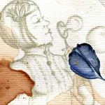 Still alive (Dream about the Hummingbird), 21x29,7cm, Aquarell, Buntsitft und Tusche auf Canson MixMedia 300g, 2013