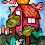 Haus, Vogel, Maus! - Pastell