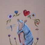 Armadillo de amor - Aquarell auf Karton 270g, A5, 2015
