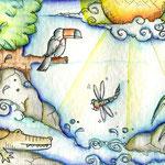 Amazonia - Aquarell